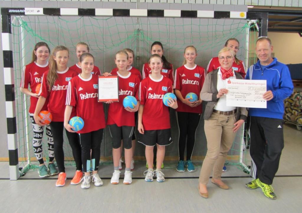 Handball-Team des Erfurter Ratsgymnasiums erfolgreich im Sportabzeichen-Wettbewerb
