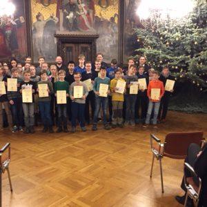 Olympische Zahlenakrobaten im Erfurter Rathaus