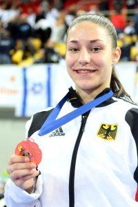 Madeleine mit EM-Bronzemedaille