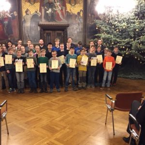 Auszeichnungsveranstaltung der Mathematikolympiade